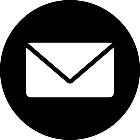 white mail icon vector png iconfinder web ui by juliia osadcha