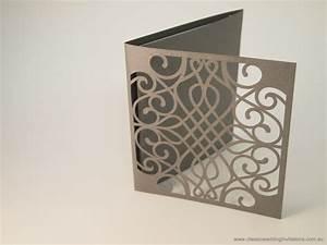 harmony laser cut trifold wedding invitation http www With laser cut wedding invitations cricut