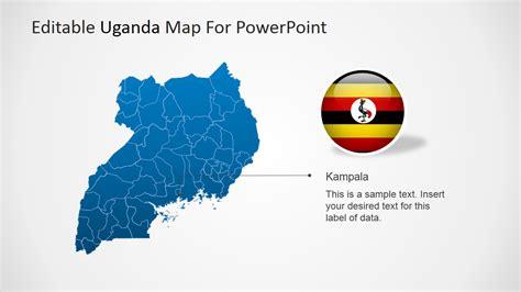 editable uganda powerpoint map slidemodel