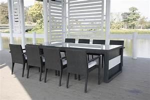 Salon Rotin Exterieur : table a manger de jardin ~ Teatrodelosmanantiales.com Idées de Décoration