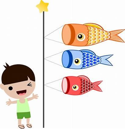 Boys Japanese Clipart Happy Fish Japan Boy