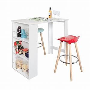 Table Haute Avec Rangement : table haute de cuisine avec rangement top des ventes ~ Teatrodelosmanantiales.com Idées de Décoration
