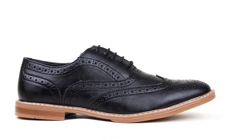 New Harrison Men Wingtip Oxford Dress Shoe Black