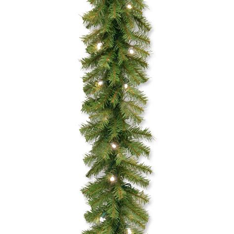 general foam 9 ft pre lit carolina fir garland with multi