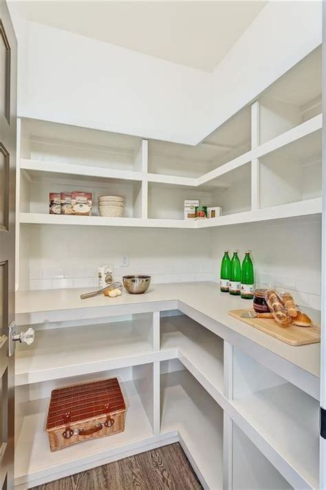 Shelving Pantry Ideas by Walk In Pantry Shelves Transitional Kitchen Clark And