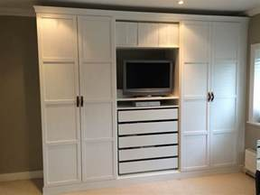 Armoire Garcon Ikea by Ikea Pax Wardrobes Hacked To Look Built In With Leather