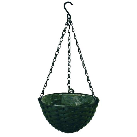 cozie smoked blue plastic hanging basket small