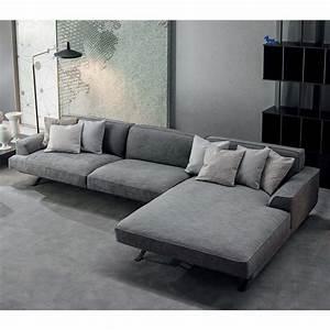 Sofa Mit Tiefer Sitzfläche : slab modernes sofa mit chaiselongue arredaclick ~ Sanjose-hotels-ca.com Haus und Dekorationen