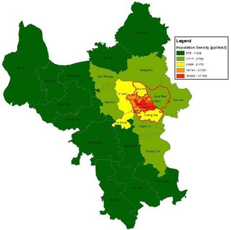 map  hanoi districts schoebitz  al  note