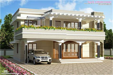 modern flat roof villa in 2900 sq