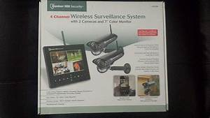 New Bunker Hill Wireless Surveillance System 62368 4 Channel Security