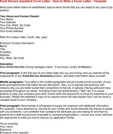 application cuisine sle cover letters for food service professional