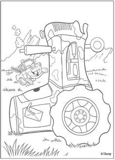 cars coloring page | Mater And Tractor Tipping Coloring