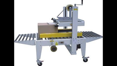 carton sealer packaging semi automatic carton sealing machine selladora de cajas semiautomatica