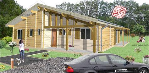 modele chalet en bois 3 chambres terrasse