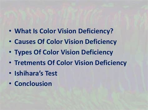 color vision deficiency color vision deficiency and ishihara s test