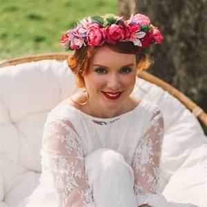 Couronne De Fleurs Mariage Petite Fille : couronne de fleurs color es pour coiffure de mariage colette bloom ~ Dallasstarsshop.com Idées de Décoration