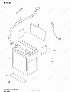 Suzuki Motorcycle 2004 Oem Parts Diagram For Battery