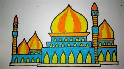 gambar masjid dari pensil