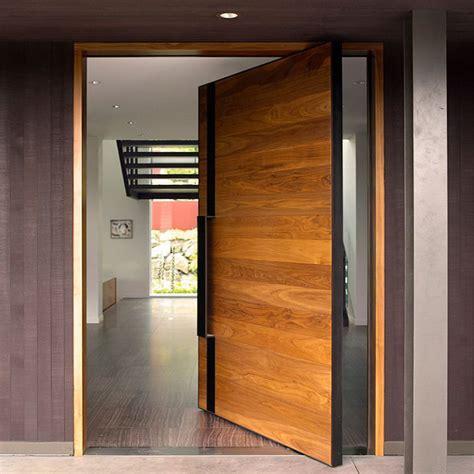 china modern style heavy duty design wood pivot door