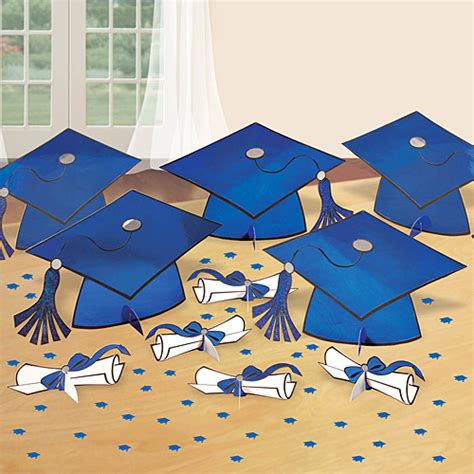 graduation table decorating kit blue