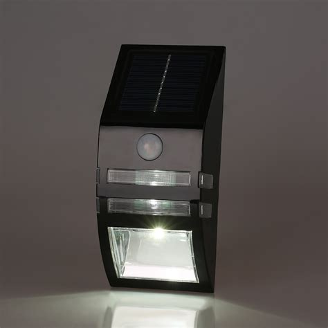 bright led solar power pir motion sensor security wall