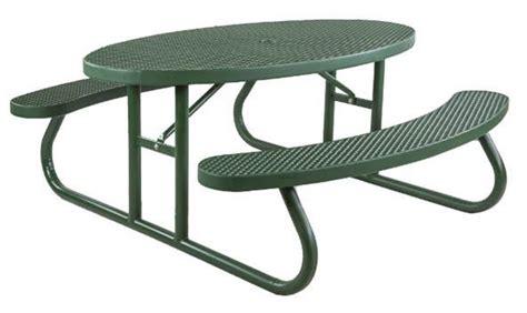 steel picnic table frame 6 ft oval plastisol picnic table galvanized steel frame