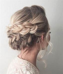 Beautiful braid updo wedding hairstyle for romantic ...
