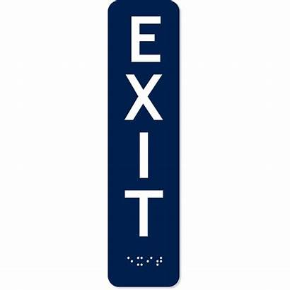 Vertical Ada Exit Braille Customsigns