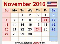 November 2016 Calendar With Holidays – 2017 printable calendar