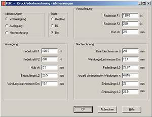 Toleranzen Und Passungen Berechnen : fed1 druckfederberechnung ~ Themetempest.com Abrechnung