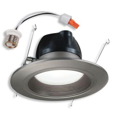 halo 6 in retrofit satin nickel recessed led lighting