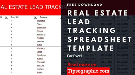 real estate lead tracking spreadsheet template  excel