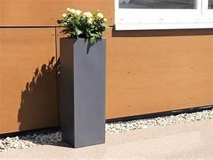 Pflanzkübel Eckig Beton : fertigset pflanzk bel mit einsatz aus fiberglas in anthrazit bei east west trading ~ Sanjose-hotels-ca.com Haus und Dekorationen