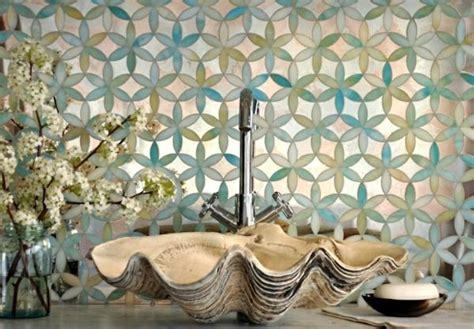 Badezimmer Deko Keramik by Badezimmer Waschbecken Muschel Form Keramik Mosaik Tiles