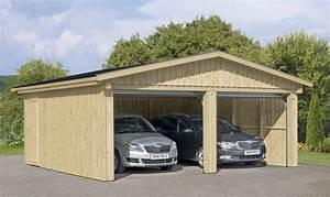 Holzgarage Mit Carport : garage skanholz falun doppelgarage holzgarage bausatz verschiedene ausf hrung vom garagen ~ Markanthonyermac.com Haus und Dekorationen