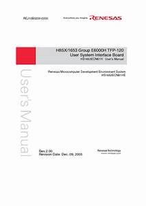H8sx  1653 Manuals