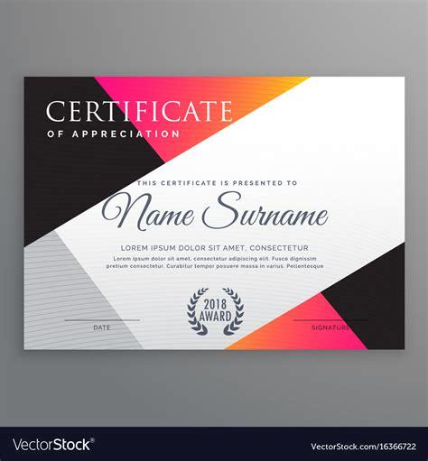 stylish certificate design template  minimal vector image