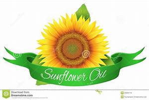 Label sunflower oil stock vector. Image of card, isolated ...