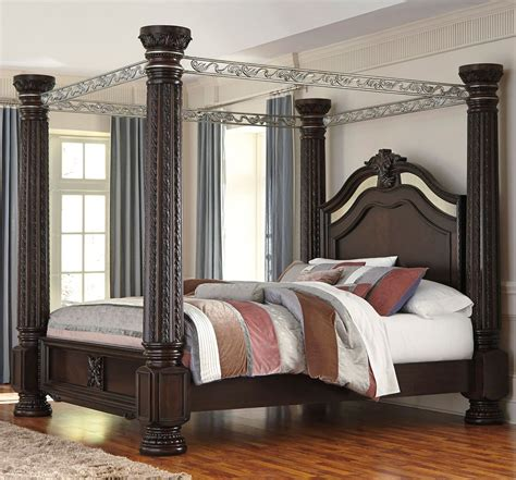 Furniture Canopy Bedroom Sets by Laddenfield Canopy Bed Beds Bedroom Furniture Bedroom