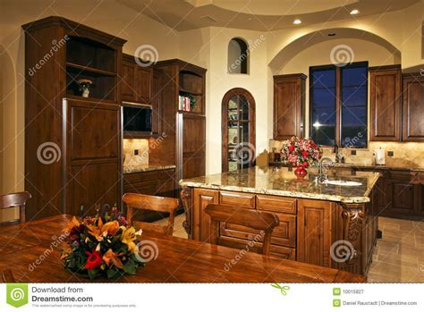 Large New Mansion Home Kitchen Royalty Free Stock