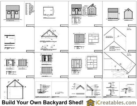 10x12 colonial shed plans