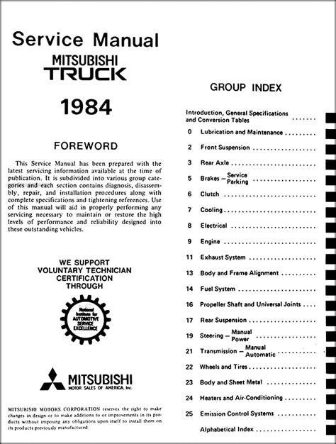 service and repair manuals 1986 mitsubishi precis auto manual 1984 mitsubishi truck repair shop manual original