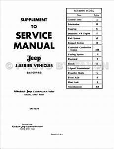 1968 Jeep Gladiator Wagoneer Repair Shop Manual Reprint Supp  3