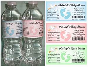 30 baby shower water bottle labels glossy waterproof With cheap waterproof water bottle labels