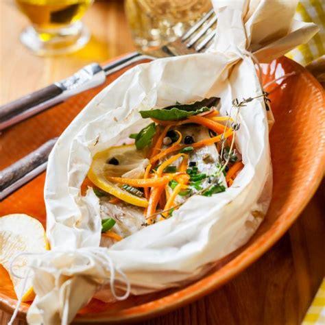 recette papillote de dorade  julienne de legumes facile