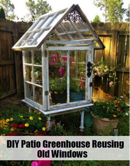 Come a little closer and take a look inside… this would be great to decorate for holidays like they have done here, or to decorate. DIY Patio Greenhouse Reusing Old Windows - The Prepared Page