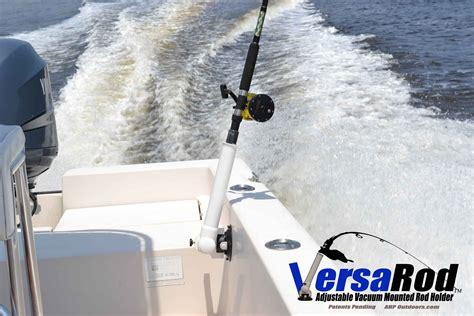 Boat Cup Rod Holders by Versarod Adjustable Vacuum Mounted Fishing Rod Holder