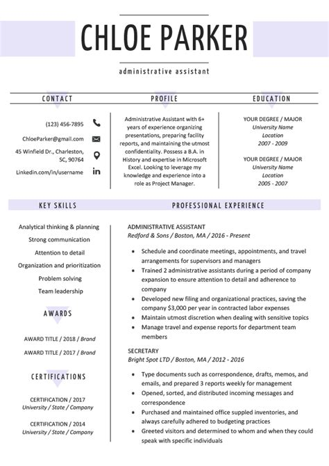 Resume Template by Free Creative Resume Templates Downloads Resume Genius