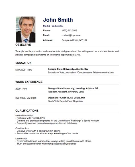 Create And Print A Cv For Free by Create A Professional Resume Cv In Minutes Without Photoshop Ai Technique Topcv Me